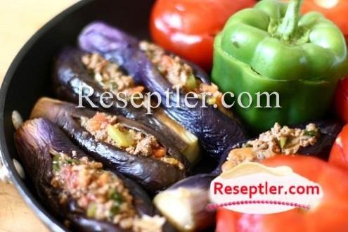 Badımcan, Bibər və Pomidor Dolması