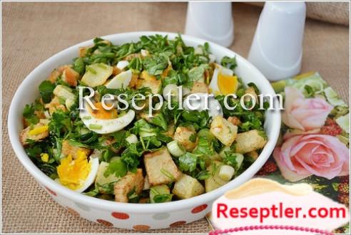 Yumurtalı Qızarmış Kartof Salatı