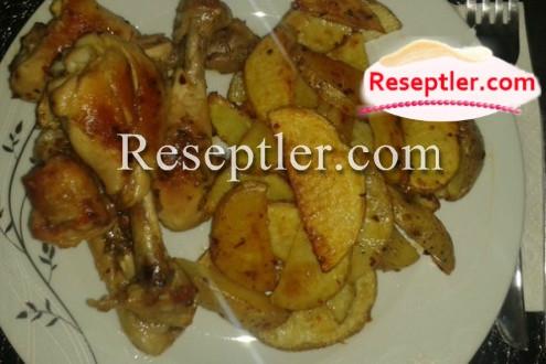 Duxovkada Kartof Qızartması