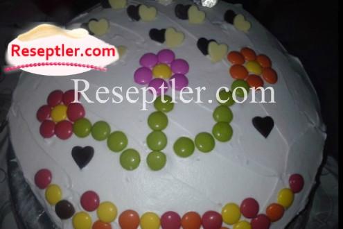 Rəngli Meyvəli Tort